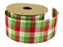 Ribbon Tartan Christmas 5cm x 10 Yards Approx