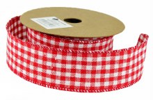 Fabric Gingham Ribbon 4cm x 10 Yards