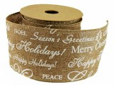 Ribbon Wired Edge Christmas 7cm x 10 Yards Approx