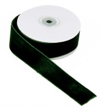 Ribbon Velvet Dark Green 38mm x 10 Yards Approx