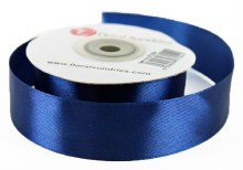 Satin Ribbon Navy 25mm x 25Yards