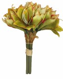 Green Amaryllis artificial flower bundle