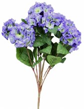 Light violet blue artificial Hydreangea flower bunch
