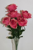Salmon pink rose bunch x 10