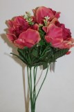 Rose bush salmon x 5 stems 34cm