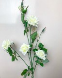 Single stem ivory rose flower height 80cm