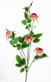 Rose spray x 4 peach 80cm