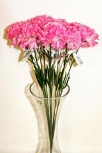Silk Pink carnations x 12-46cm