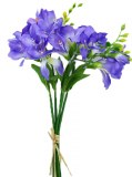 Purple freesia bundle x 5 stems 35cm