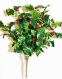 Artificial holly bunch x 8 stems 42cm