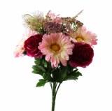 Mixed Gerbera, Wild Flower and Ranunculus flower bunch Mixed Pinks 13 Stems