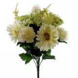 Artificial Flower Gerbera Mixed Bunch -Ceam x 13 stems