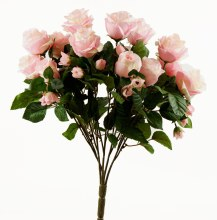 Pale PInk Artificial Rose Bunch x 15