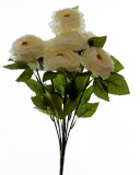 Artificial Ranunculus Bunch Cream x 7 Stems