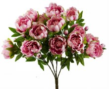Artificial Peony Bundle x 15 Blush Pink 23.5""