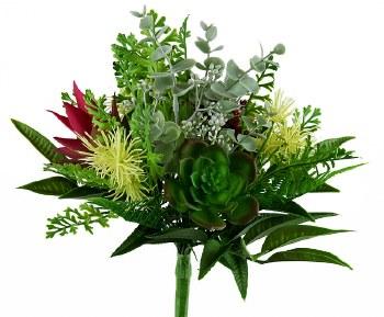 Artificial Succulent/ Eucalyptus Bouquet 38cm