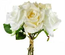 Faux Rose Bundle Cream/Ivory x 5