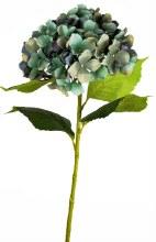 Artificial Hydrangea Stem Grey/ Blue 80cm