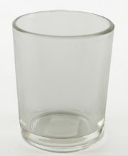 Clear glass tealight holder 5.5x 6.5cm