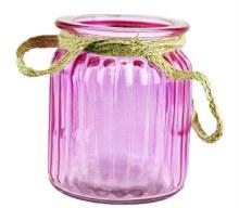 Purple jam jar 7.5x 9cm