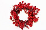 Mixed berry Christmas door wreath 35cm