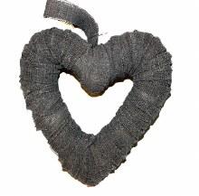 Linen heart 20cm