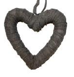 Linen heart 30cm