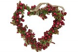 Heart hanging with berries 14cm