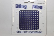 Iridescent diamante 3mm bling bling craft stickers