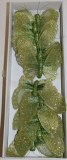 Green decorative butterfly x 12