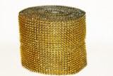 Diamond mesh gold