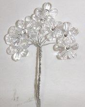 Flower bundle diamante pick clear medium
