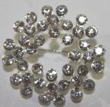 Diamante flower ring brooch