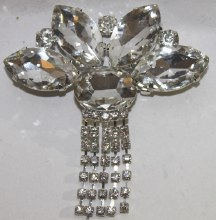 Diamante large brooch