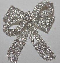 Bow diamante brooch small 4cm