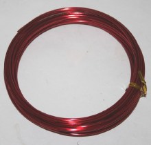 Red aluminium florist wire 2mm x 100g