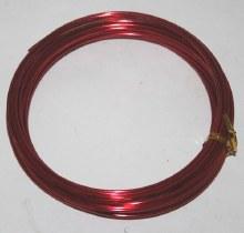 Red aluminium florist wire 2mm x 100g