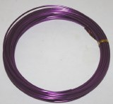 Purple aluminium florist wire 2mm x 100g