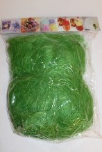 Decorative lime green sisal 100g packet