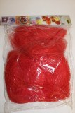 Decorative red sisal 100g packet