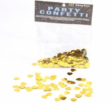 Gold Heart Confetti 10mm