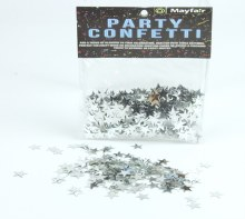 Silver Star Confetti 10mm