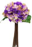 Purple Hydrangea bundle x 12 stems 35cm