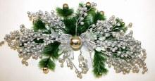 Christmas silver swag