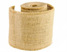 Hessian Burlap Ribbon 10cm x 5m Natural