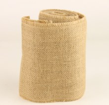 Hessian Burlap Ribbon 15cm x 5m Natural