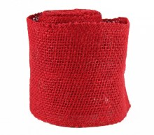 "Red Hessian Ribbon 5"" x 5yards"