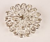 Wedding Diamante Brooch 4cm