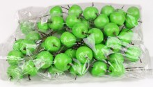 Decorative Green Artificial Apples 3.5cm x 50pcs