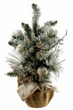 Christmas Snow Tree Hessian Planter